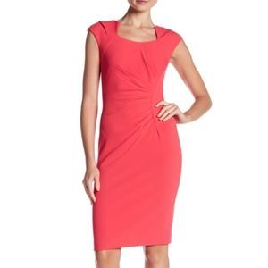 Coral Pink Calvin Klein Sheath Dress plus size 14